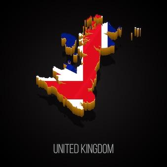 Mappa 3d del regno unito