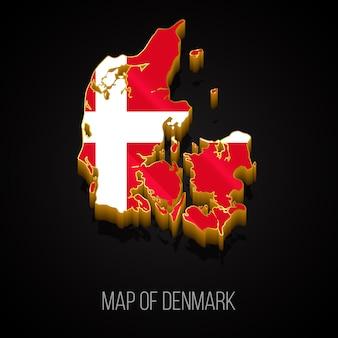 Mappa 3d della danimarca