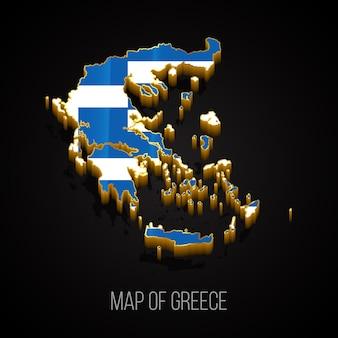 Mappa 3d della grecia