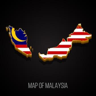 Mappa 3d della malesia
