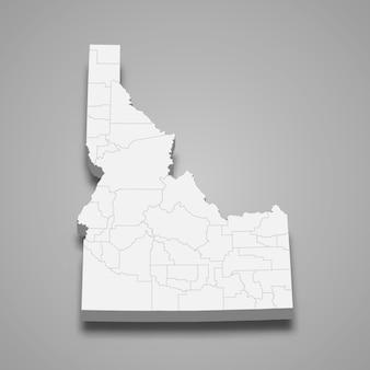 Mappa 3d stato degli stati uniti