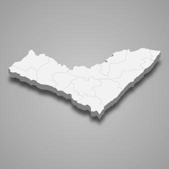 Mappa 3d stato del brasile