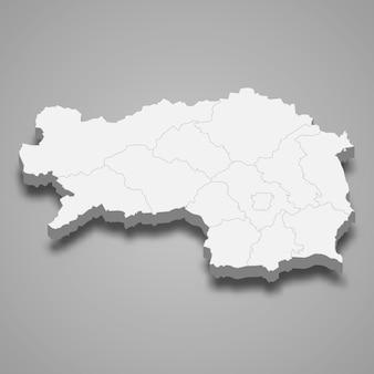 Mappa 3d stato dell'austria