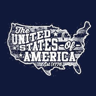 Mappa americana di sfondo
