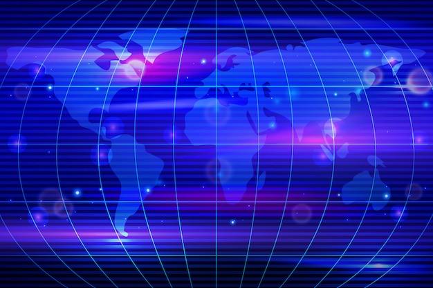 Mappa blockchain del mondo con i paesi