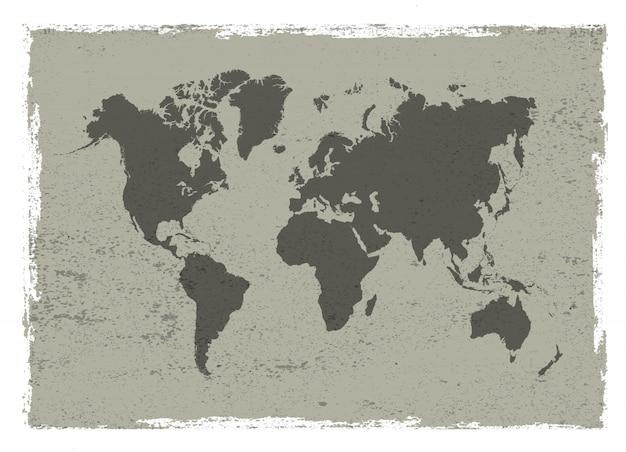 Mappa d'epoca del mondo