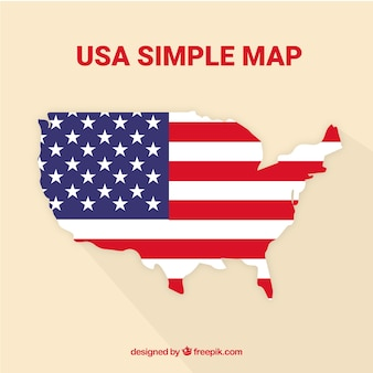 Mappa degli stati uniti