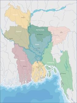 Mappa del bangladesh