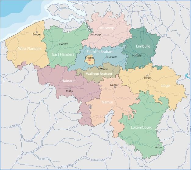 Mappa del belgio