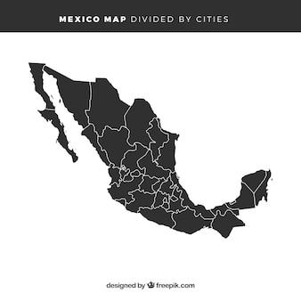 Mappa del messico