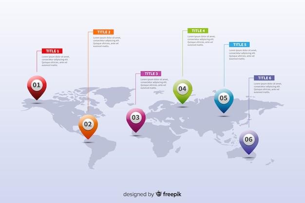 Mappa del mondo aziendale infografica