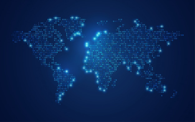 Mappa del mondo binario