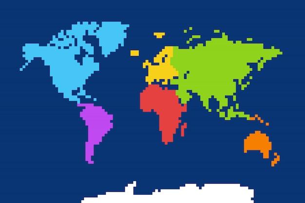Mappa del mondo colorata