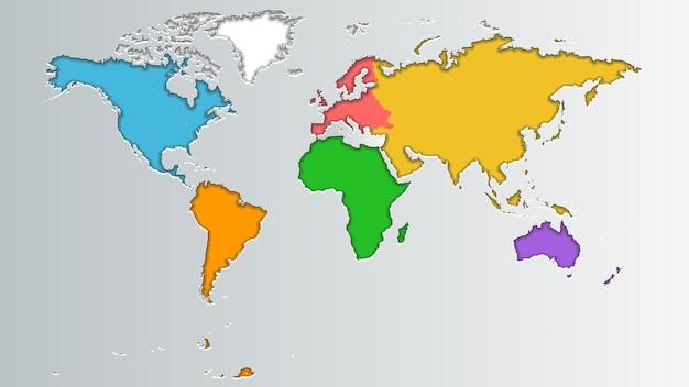 Mappa del mondo dei colori