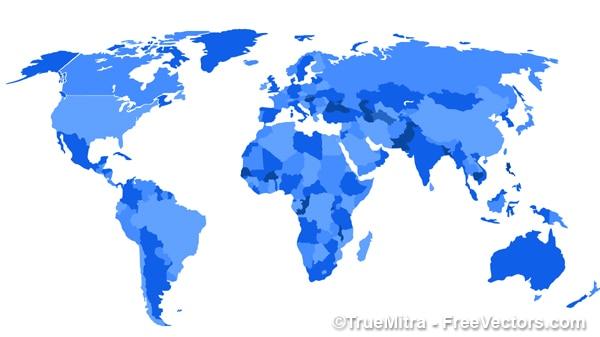 Mappa del mondo illustrazione