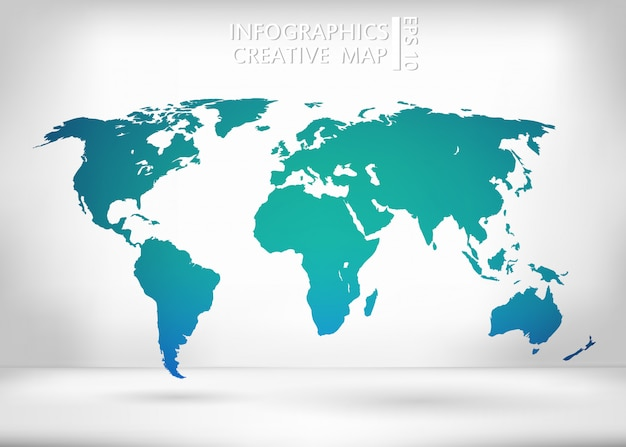 Mappa del mondo.