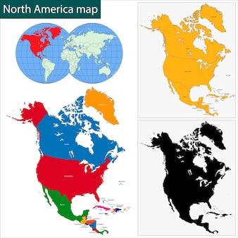 Mappa del nord america