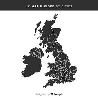 Mappa del regno unito