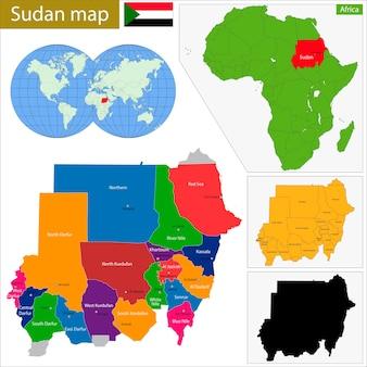 Mappa del sudan