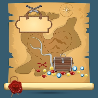Mappa del tesoro dei pirati