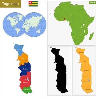 Mappa del togo