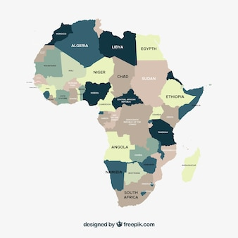 Mappa dell'africa