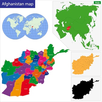 Mappa dell'afghanistan