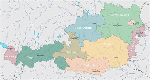 Mappa dell'austria