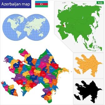 Mappa dell'azerbaigian