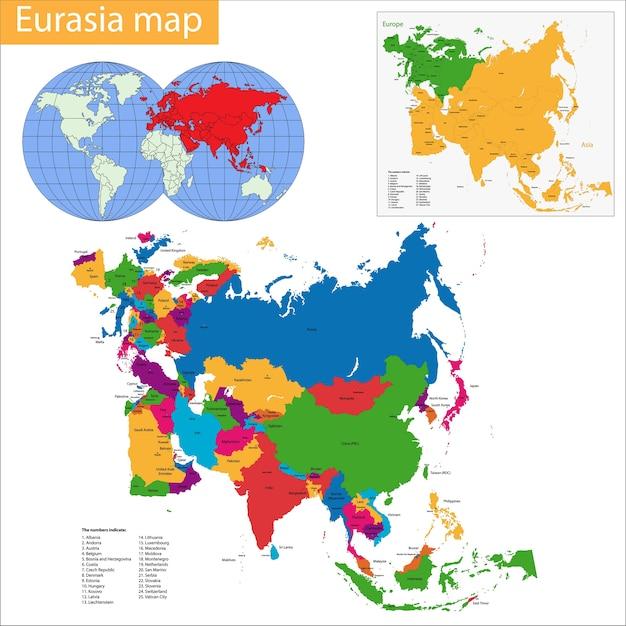 Mappa dell'eurasia