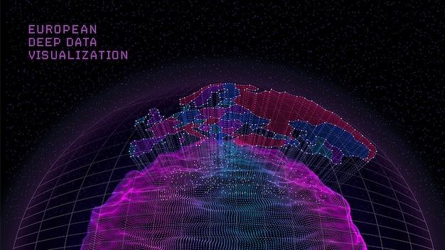 Mappa dell'europa dalle particelle