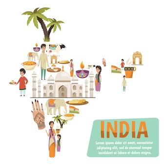 Mappa dell'india