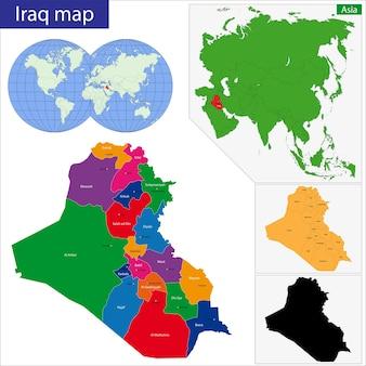 Mappa dell'iraq