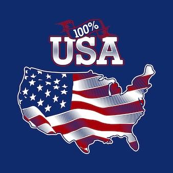 Mappa della bandiera usa