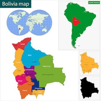 Mappa della bolivia