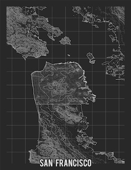 Mappa della città di san francisco.