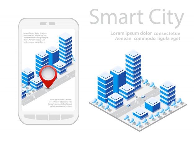 Mappa della città sul design bianco