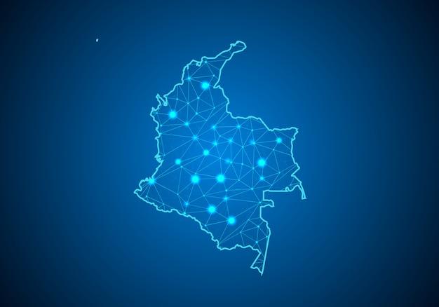 Mappa della colombia.