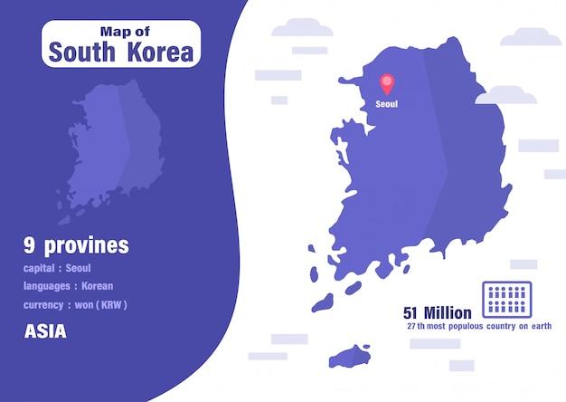 Mappa della corea del sud