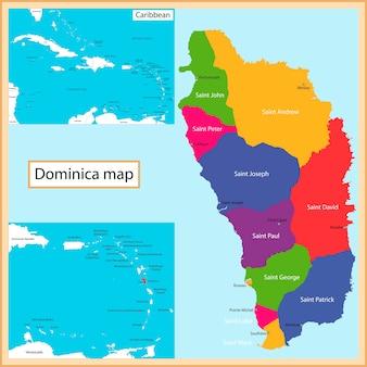 Mappa della dominica