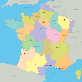 Mappa della francia