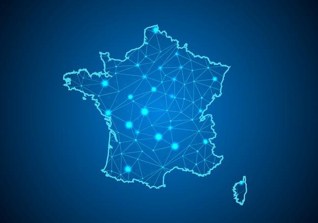 Mappa della francia.
