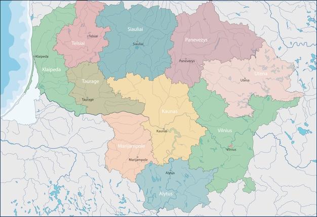 Mappa della lituania