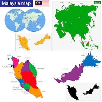 Mappa della malesia