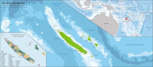 Mappa della nuova caledonia