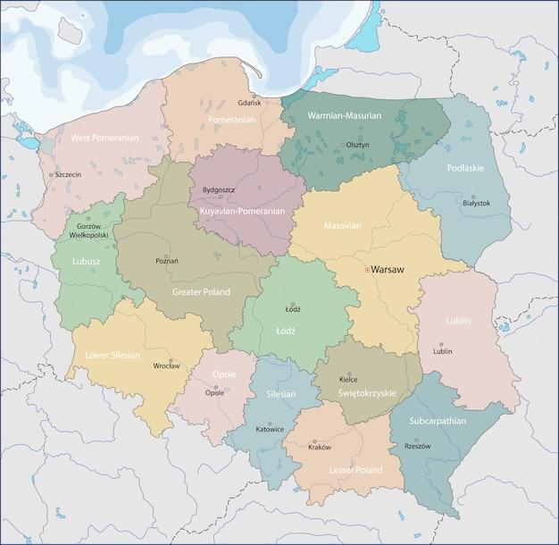 Mappa della polonia
