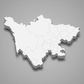 Mappa della provincia cinese