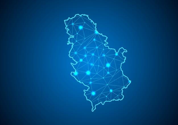 Mappa della serbia.
