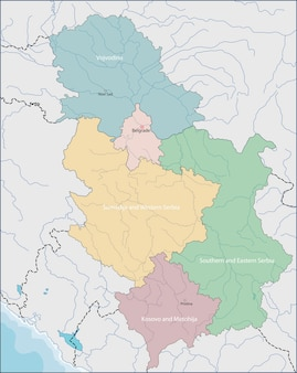 Mappa della serbia