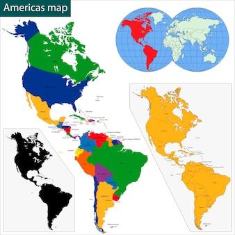 Mappa delle americhe